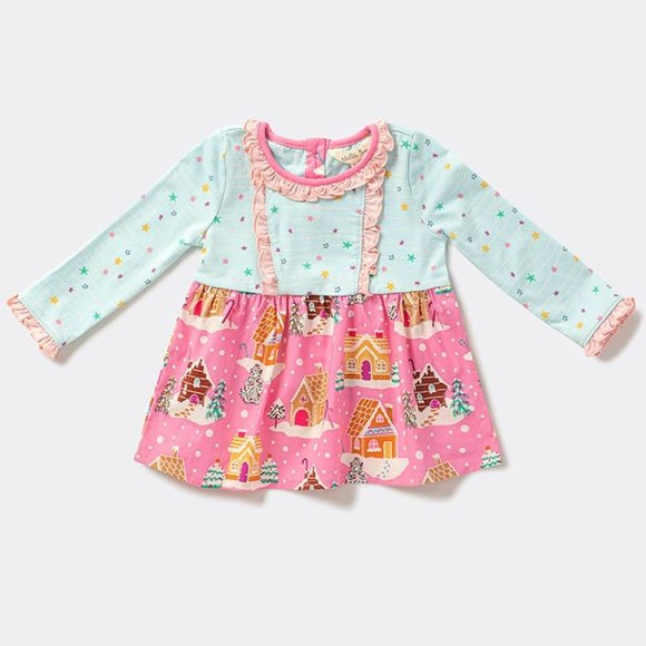 Matilda Jane Sweet Gingerbread Dress 6-12 months